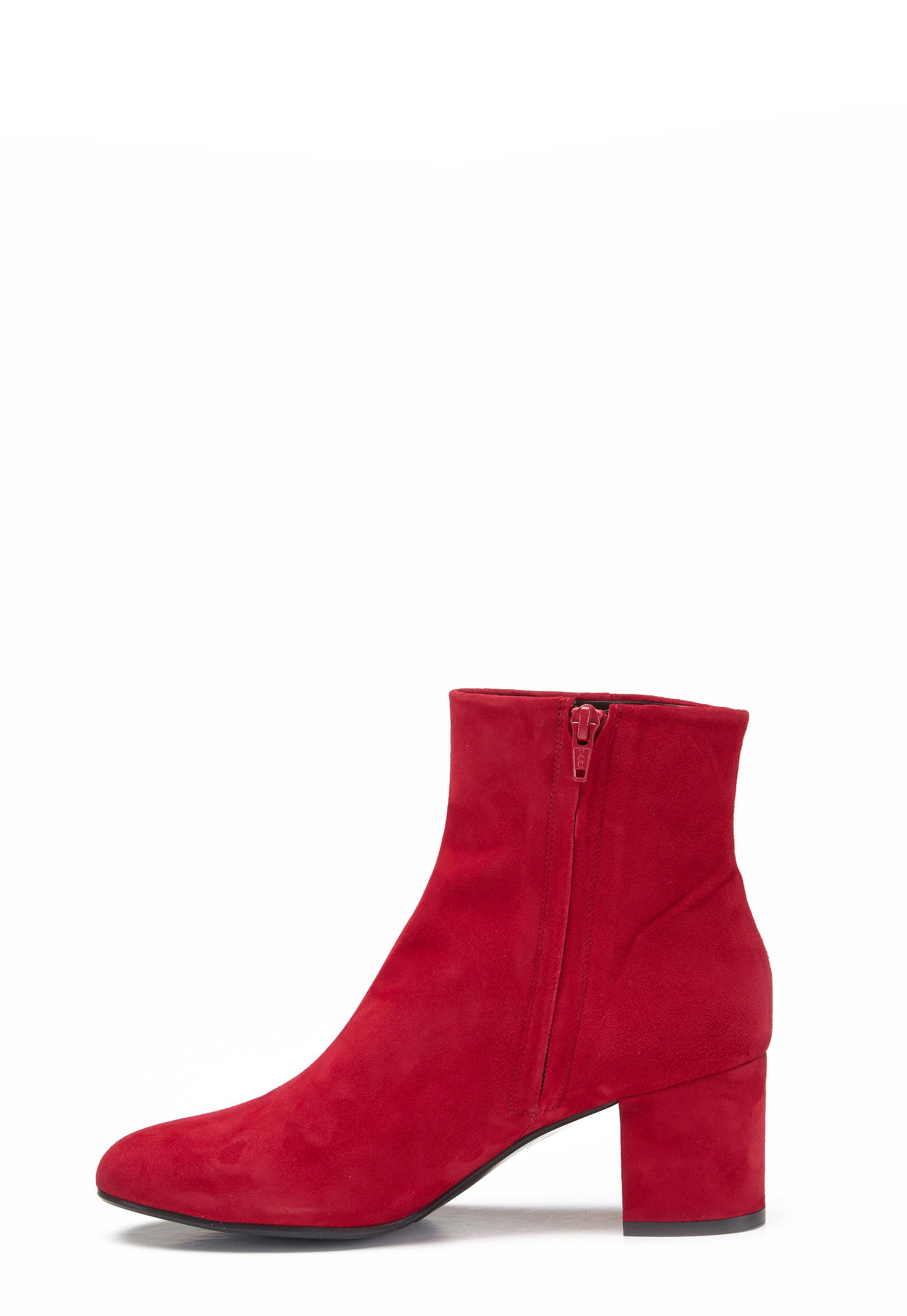 Bubbleroom Suede Bi Red Boots Billi Red OPkiTlwuXZ