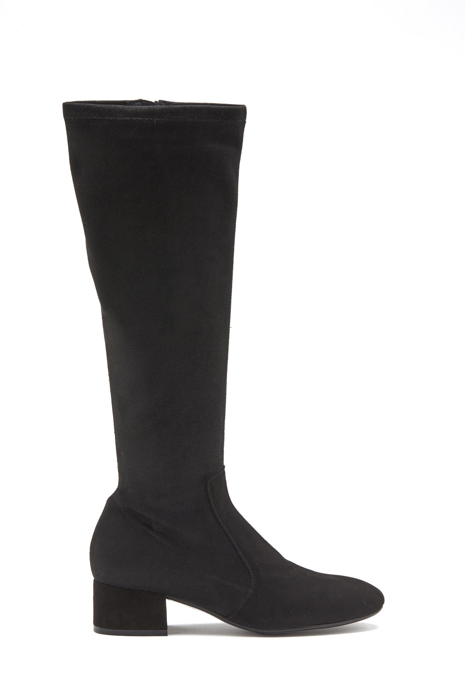 Billi Bi Suede Stretch Long Boots Black Bubbleroom