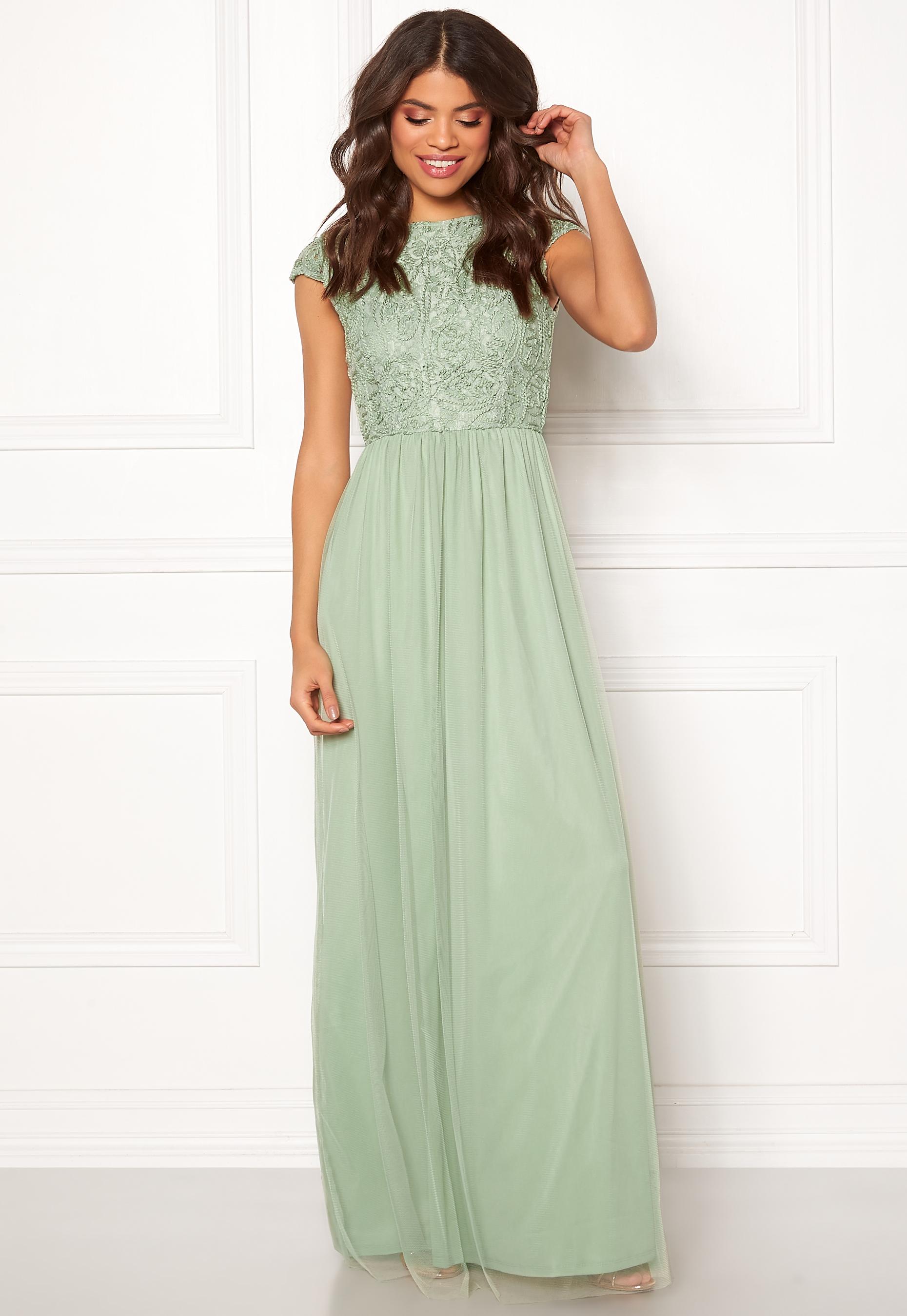 578b2f1e BUBBLEROOM Ariella prom dress Light green - Bubbleroom