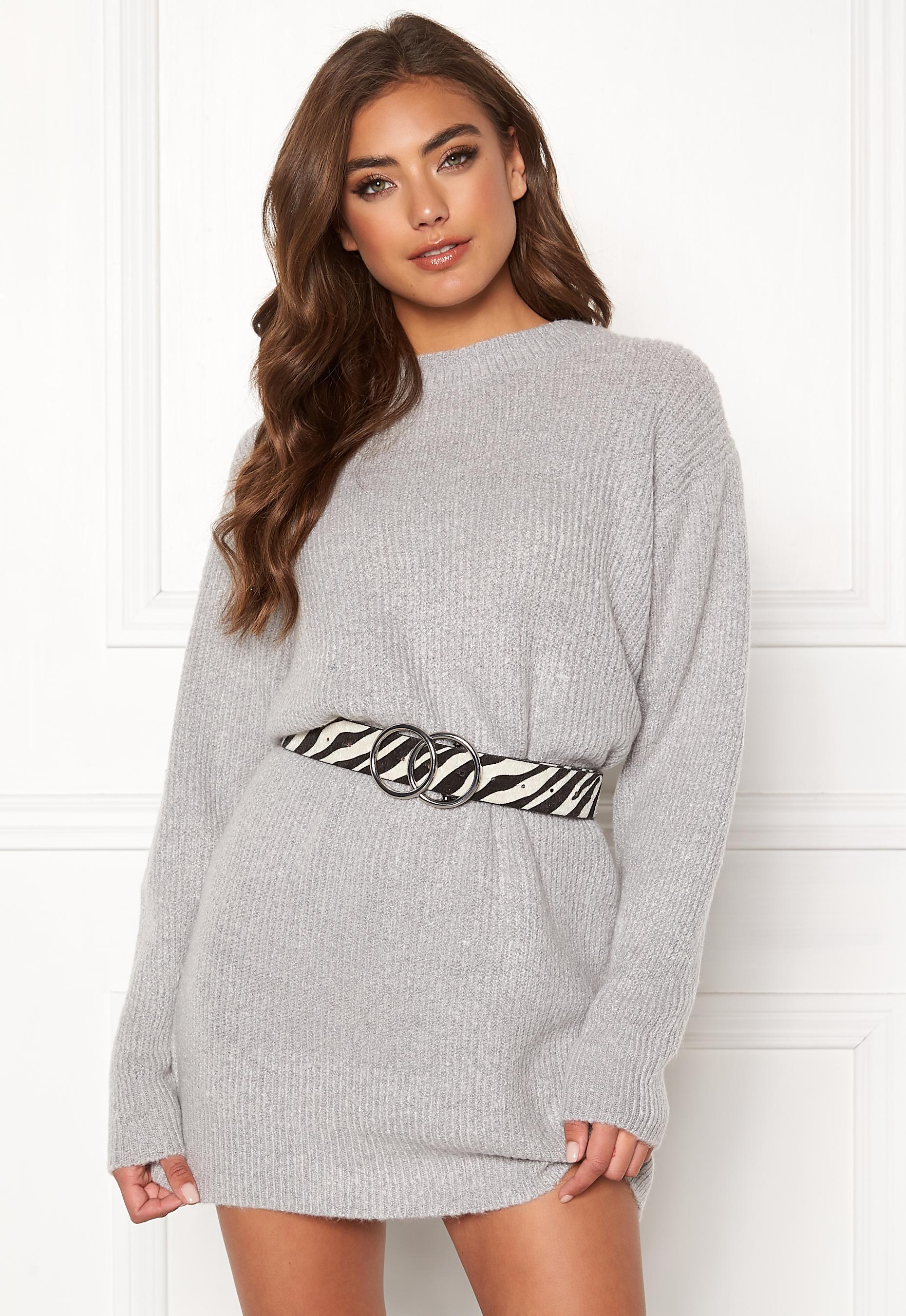 BUBBLEROOM Elsie knitted sweater Grey Bubbleroom