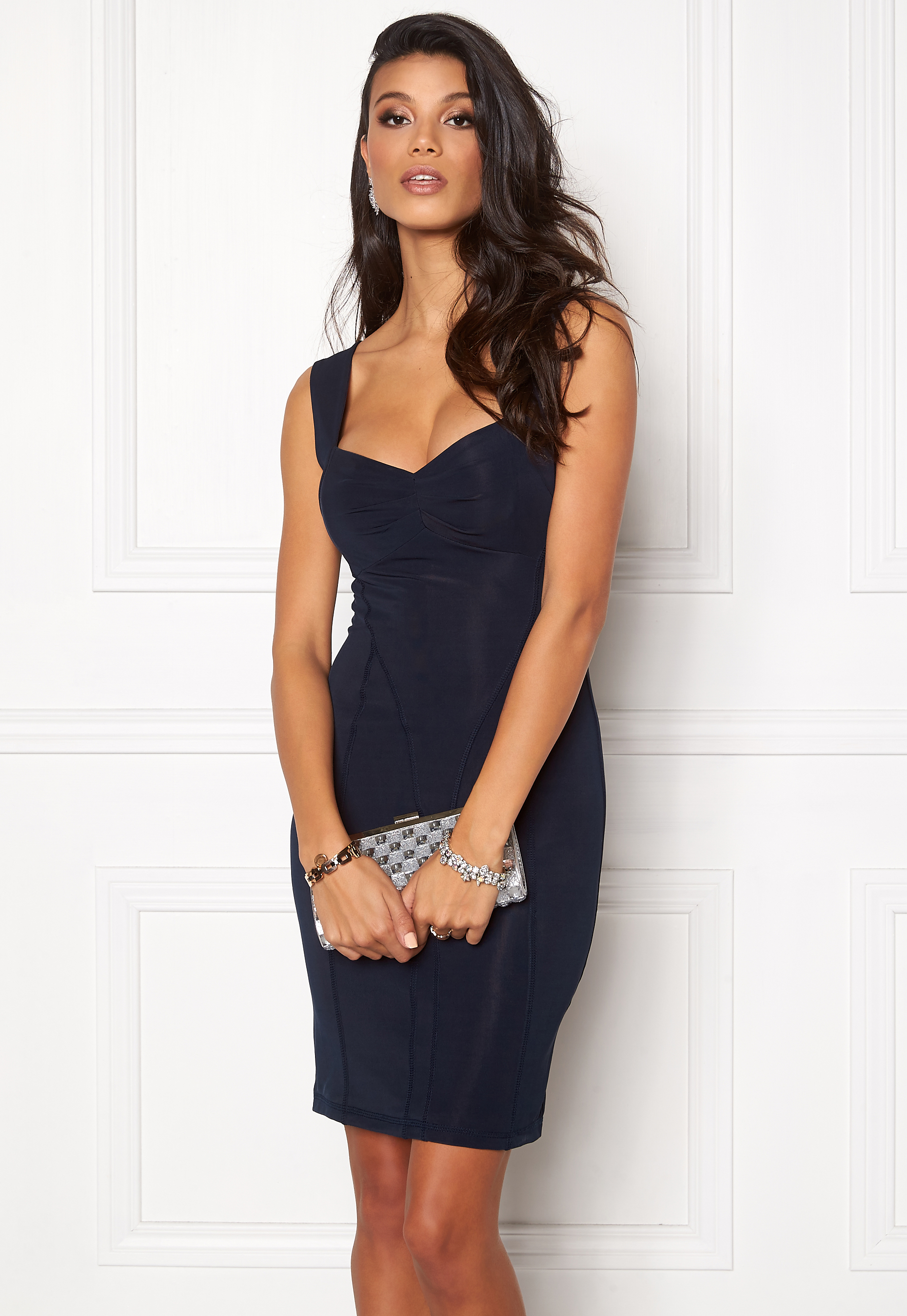 Chiara Forthi Saskia Stretch Dress Midnight blue Bubbleroom