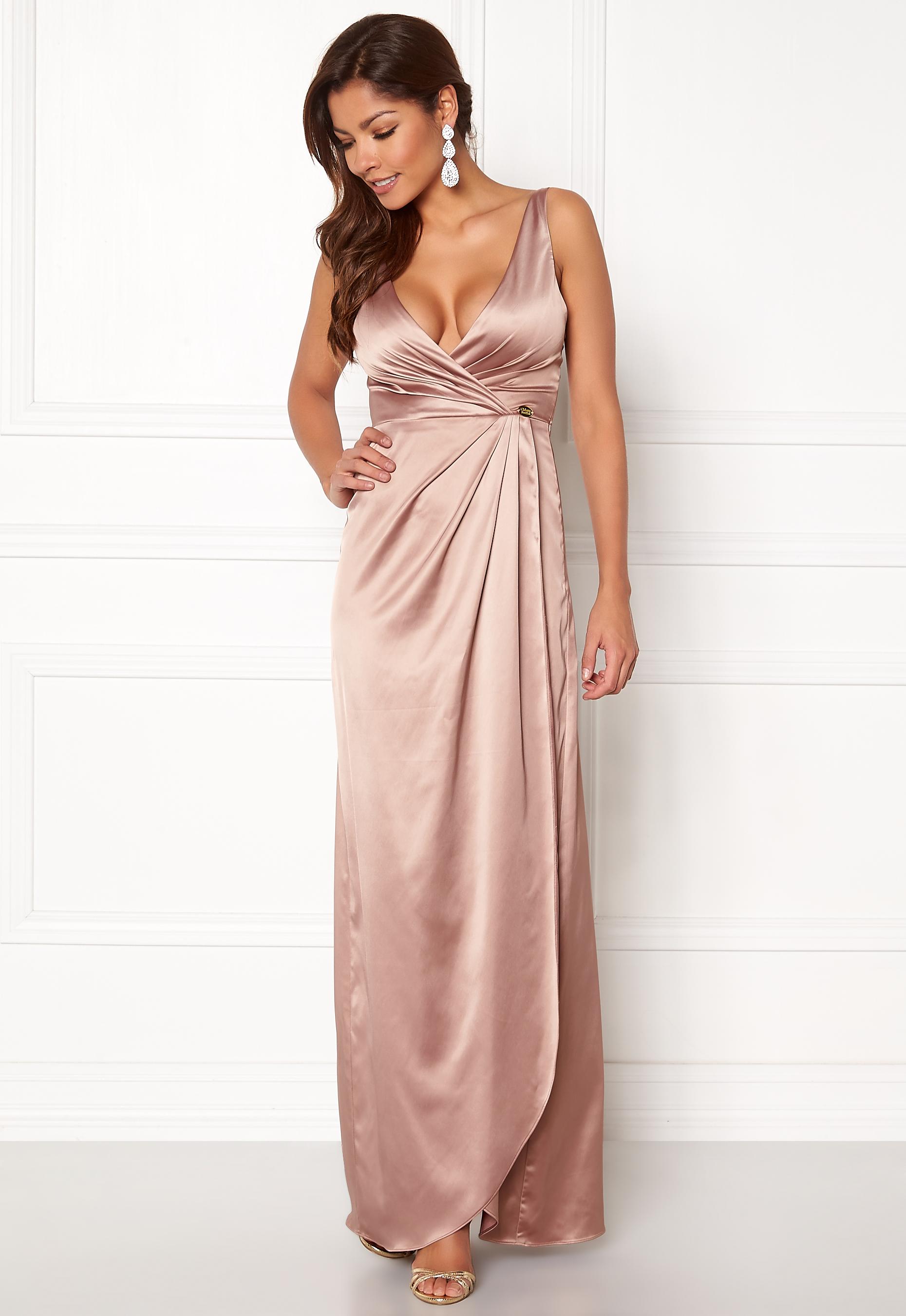84178272 Chiara Forthi Ysabel Satin Gown Heather pink - Bubbleroom