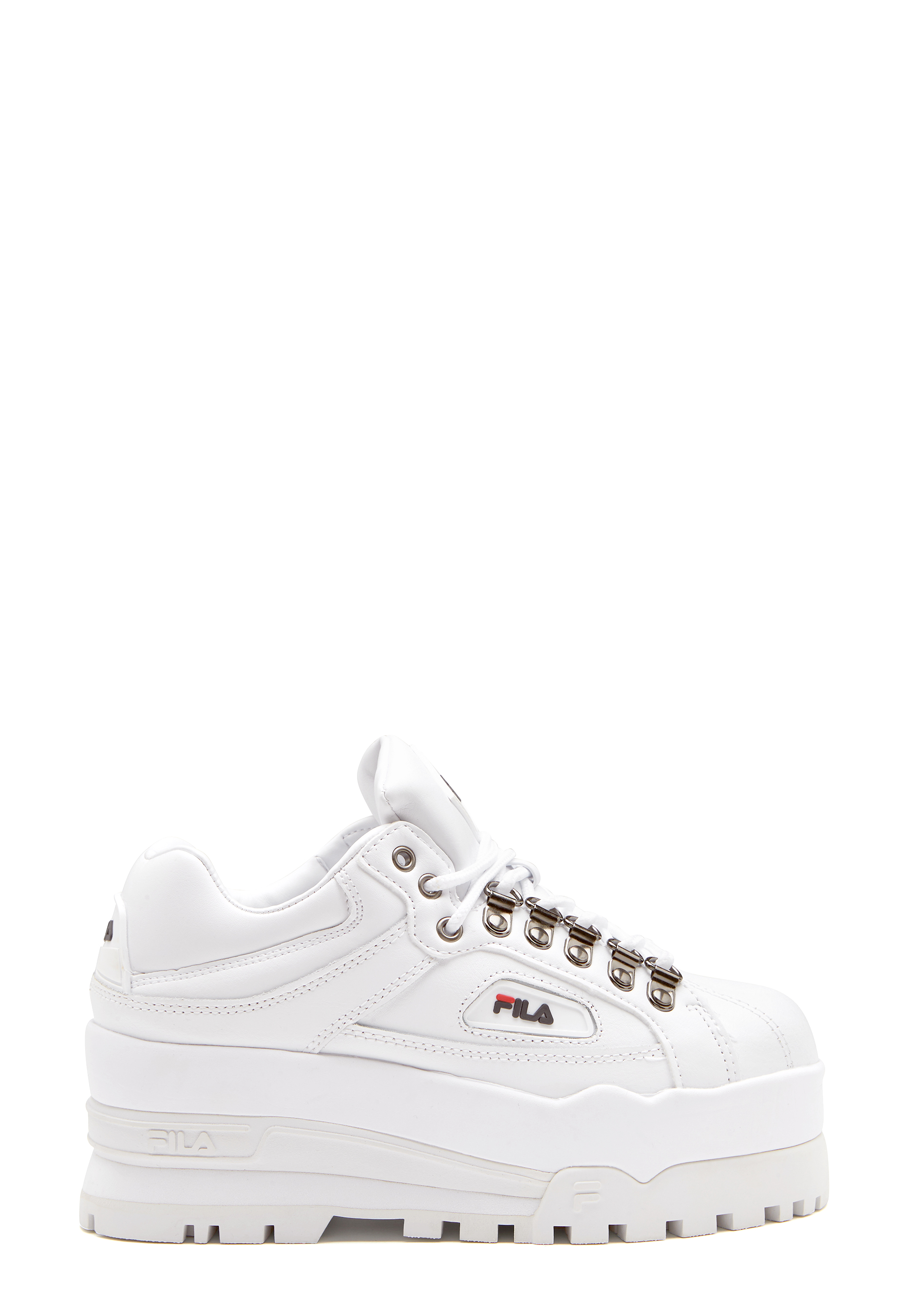 FILA Trailblazer Wedge WhiteFila NavyRed Bubbleroom