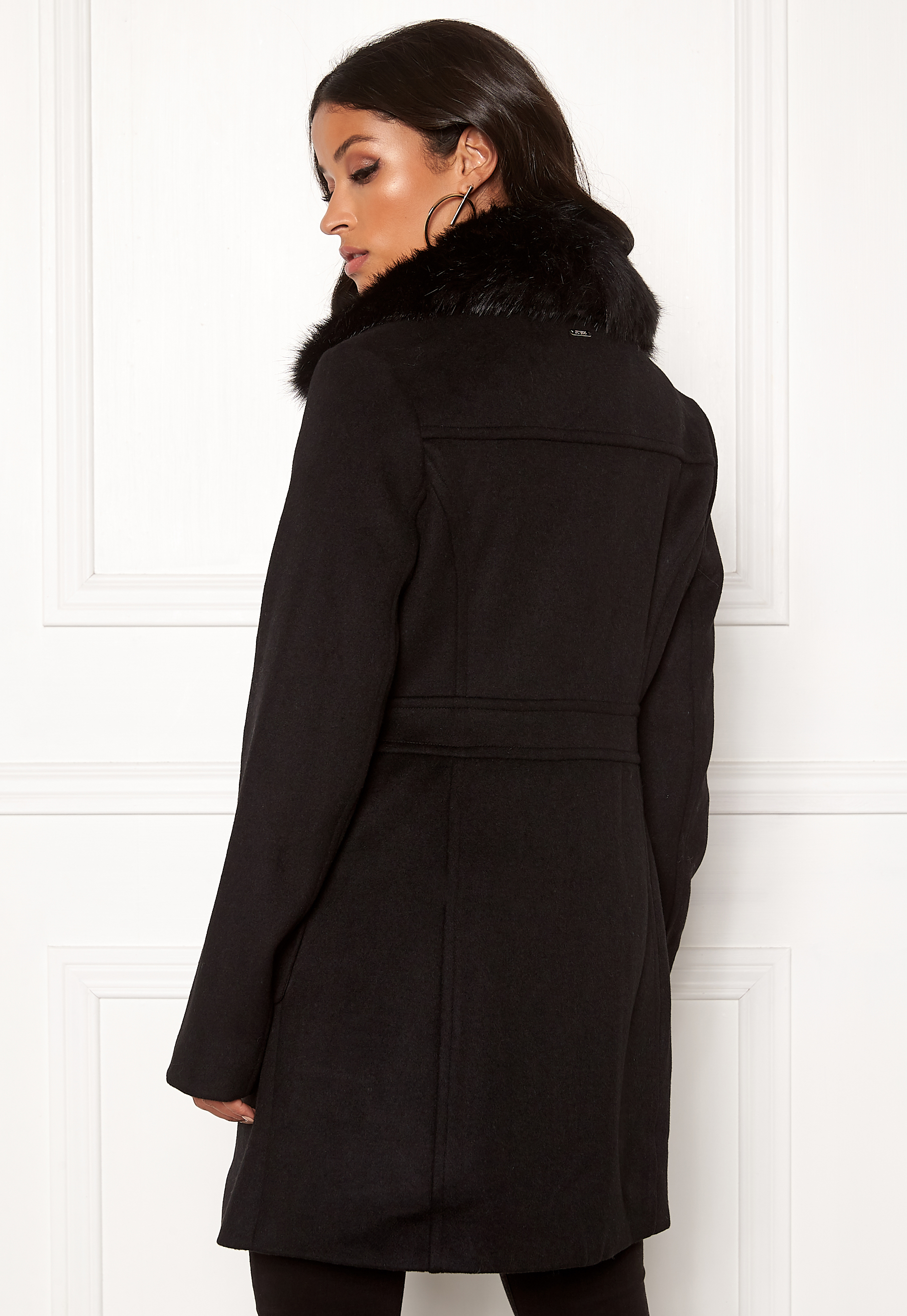 Guess Lucina Coat Jet Black Bubbleroom