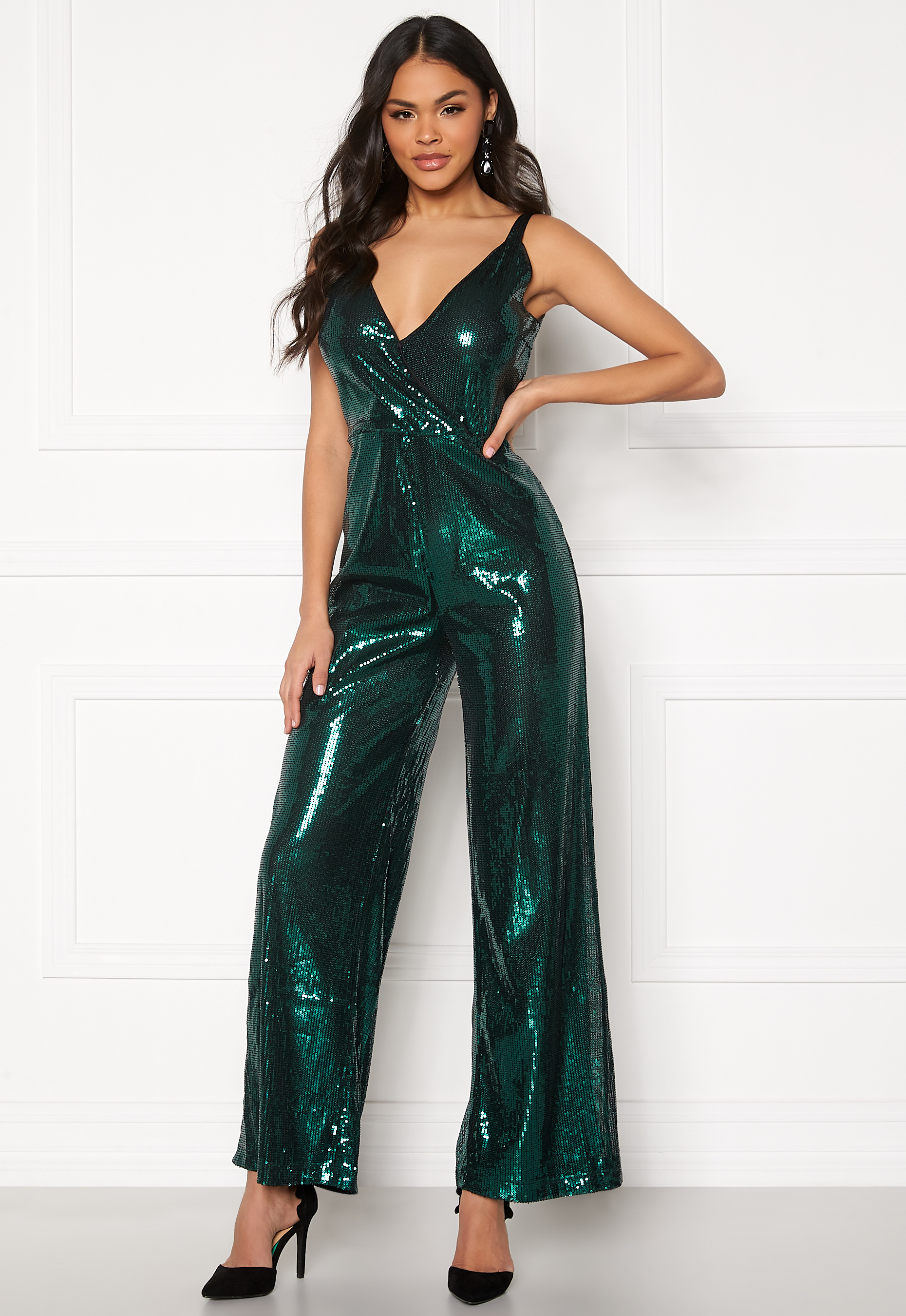Green Sequin Jumpsuit  Ivyrevel  Jumpsuit - Dameklær er billig