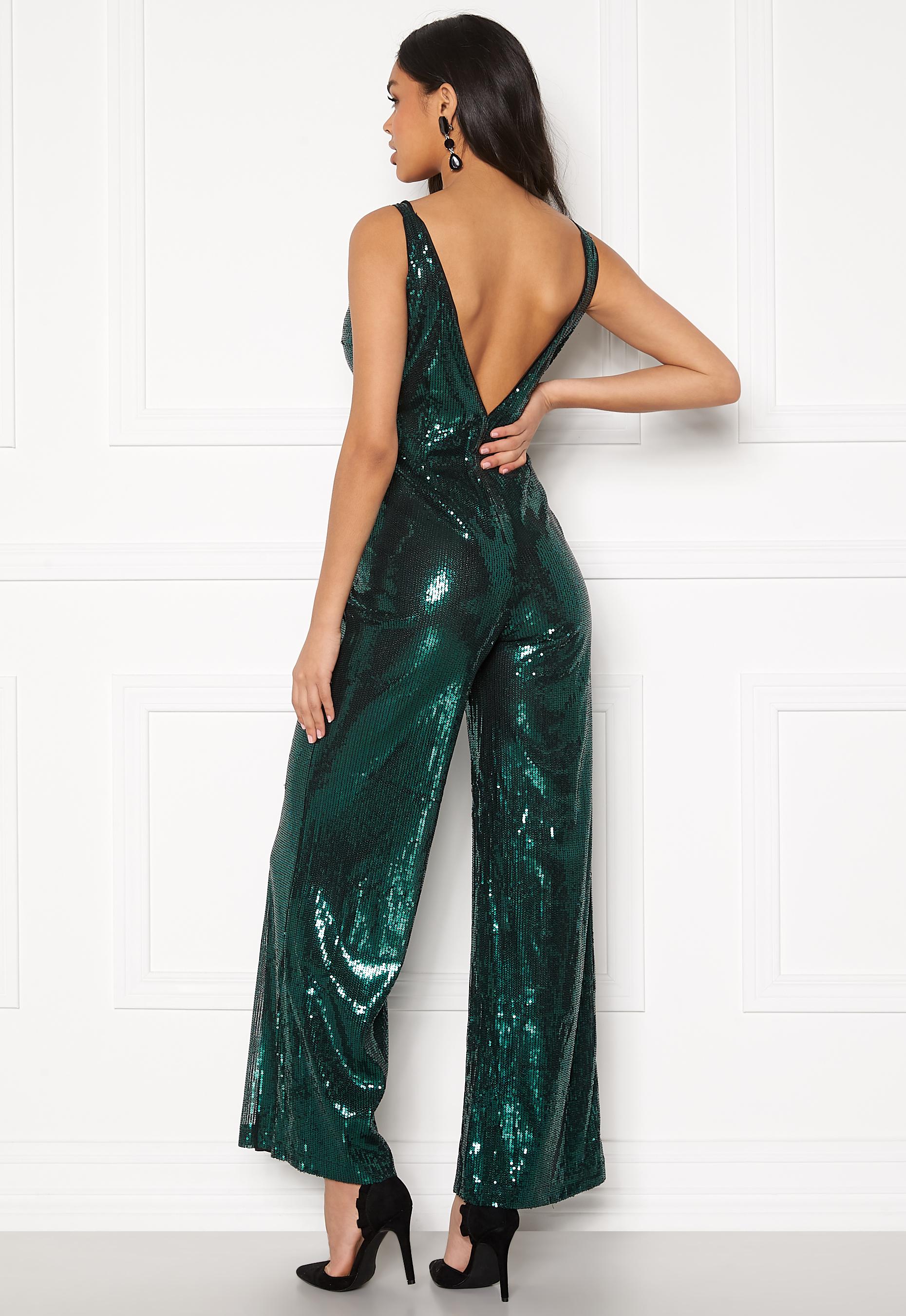 Green Sequin Jumpsuit  Ivyrevel  Jumpsuit - Dameklær er billig