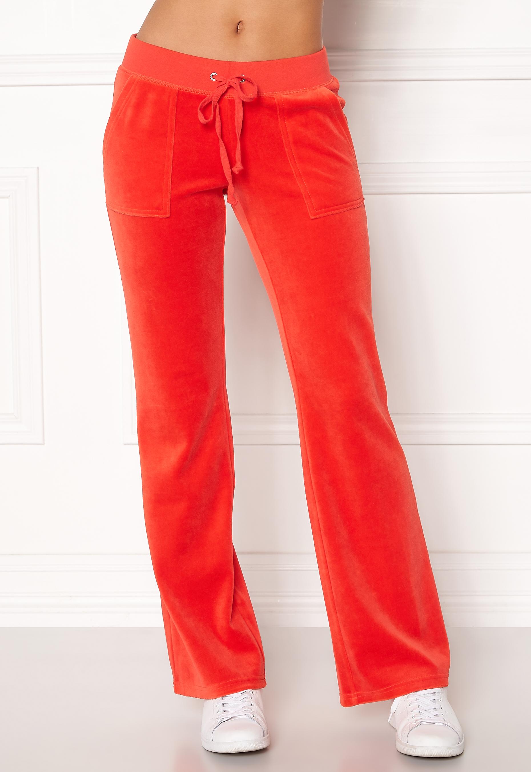 Juicy Couture Velour Del Rey Pant City Rouge Bubbleroom