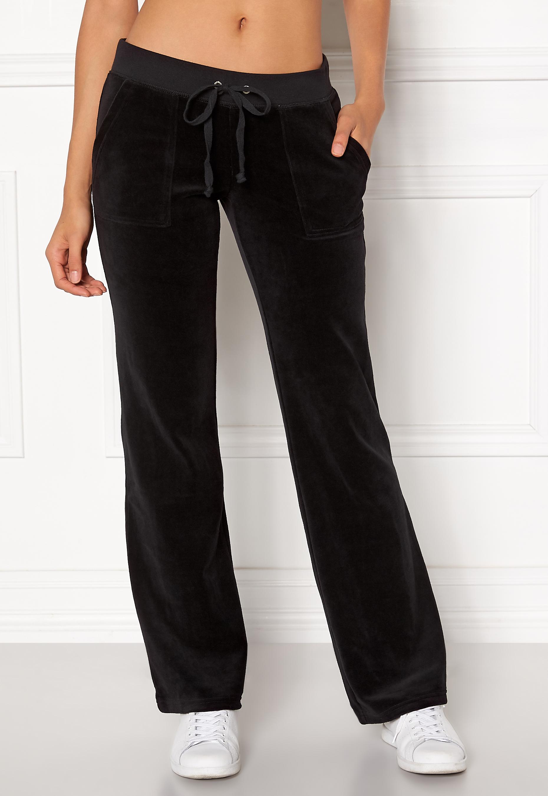 25366d9c Juicy Couture Velour Del Rey Pant Pitch Black - Bubbleroom