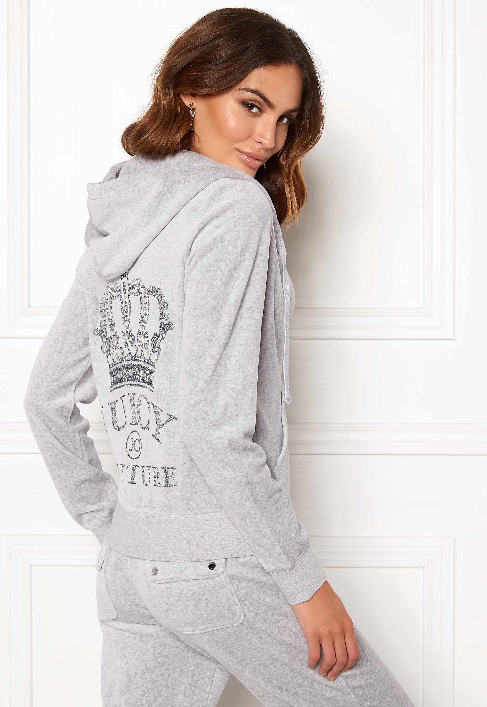 Juicy Couture Luxe Juicy Crown Pant Silver Lining Bubbleroom