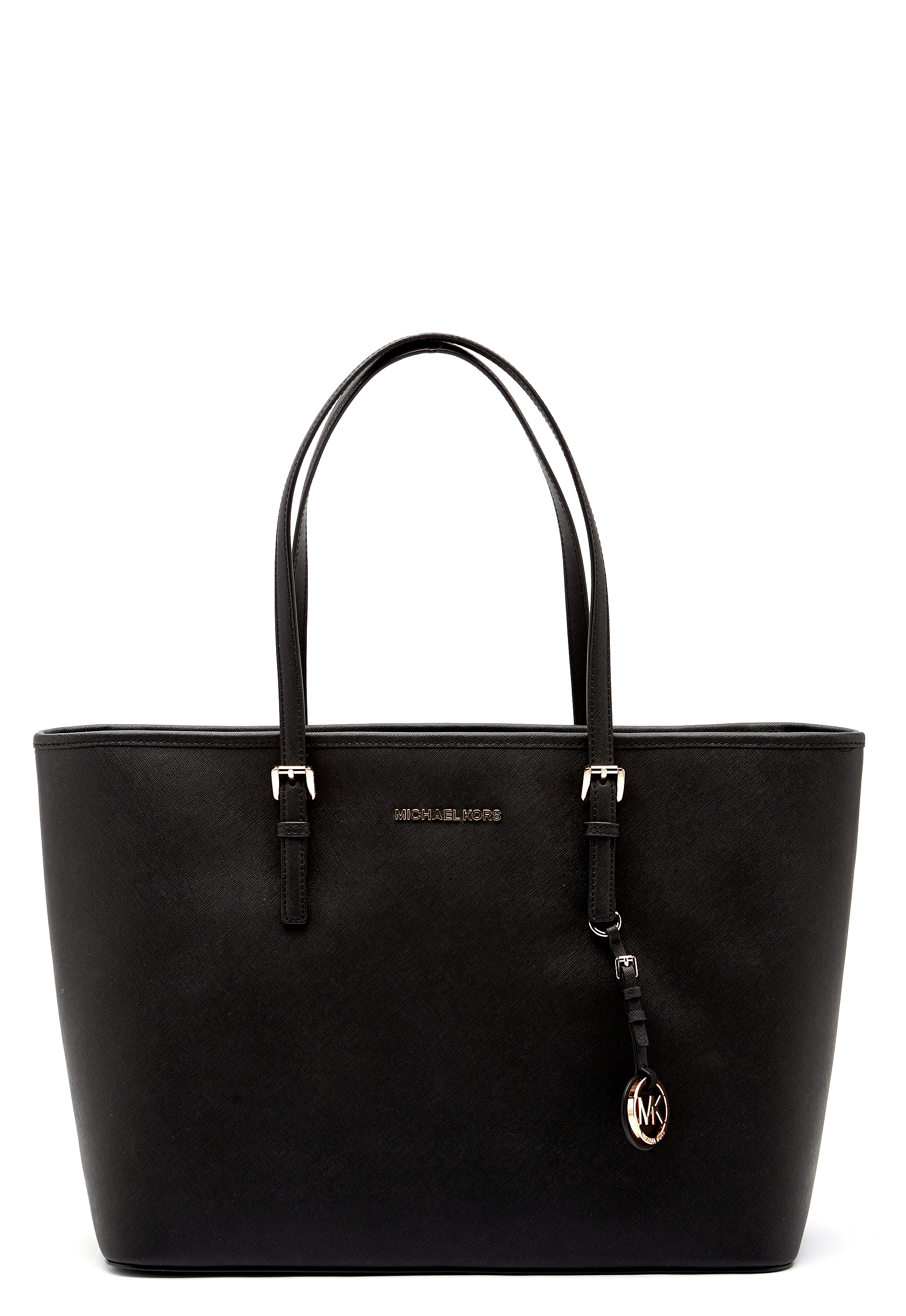 Michael Michael Kors Jet Set Travel Mid Tote Black Bubbleroom