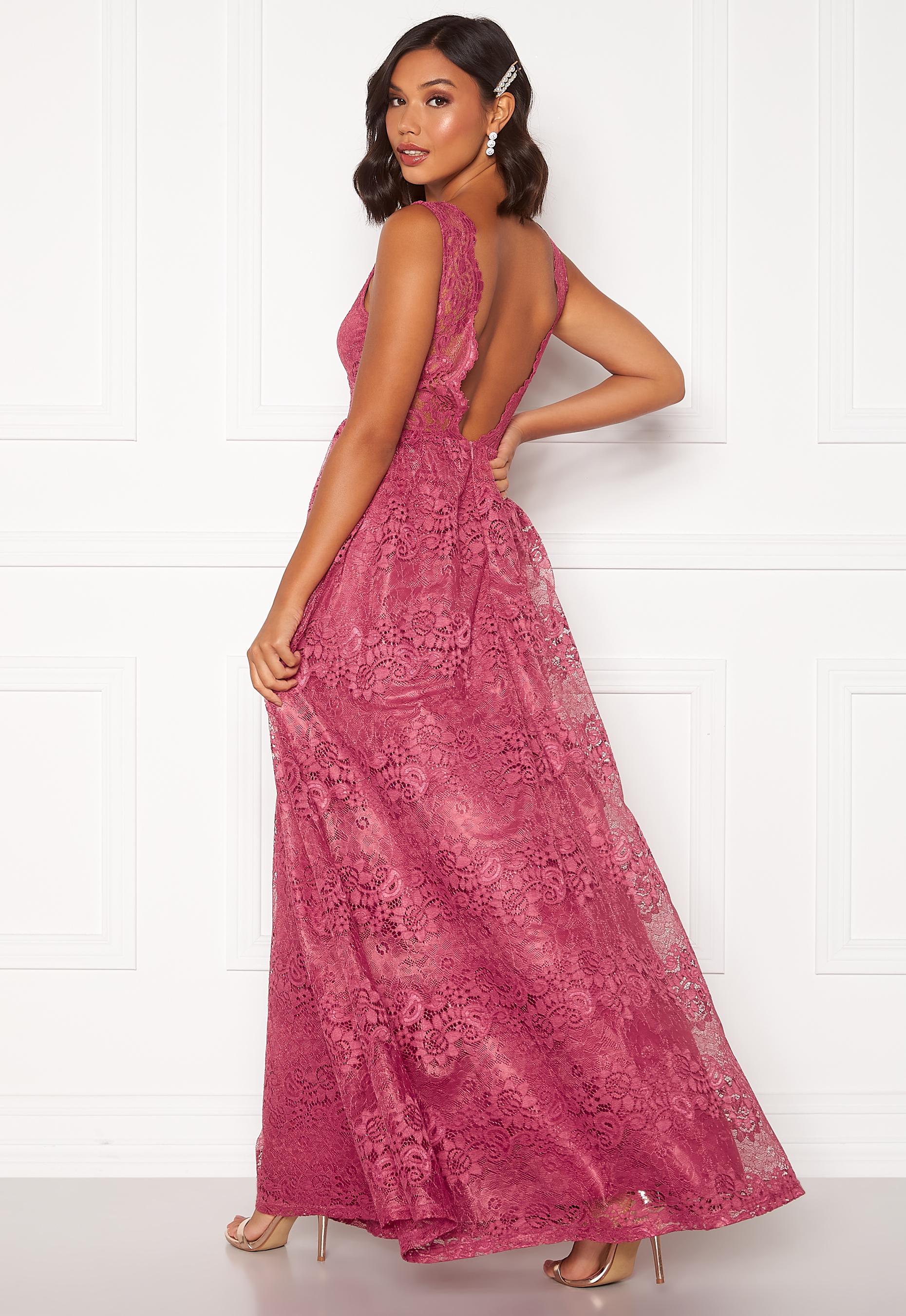 Lace dress Louize   raspberry red