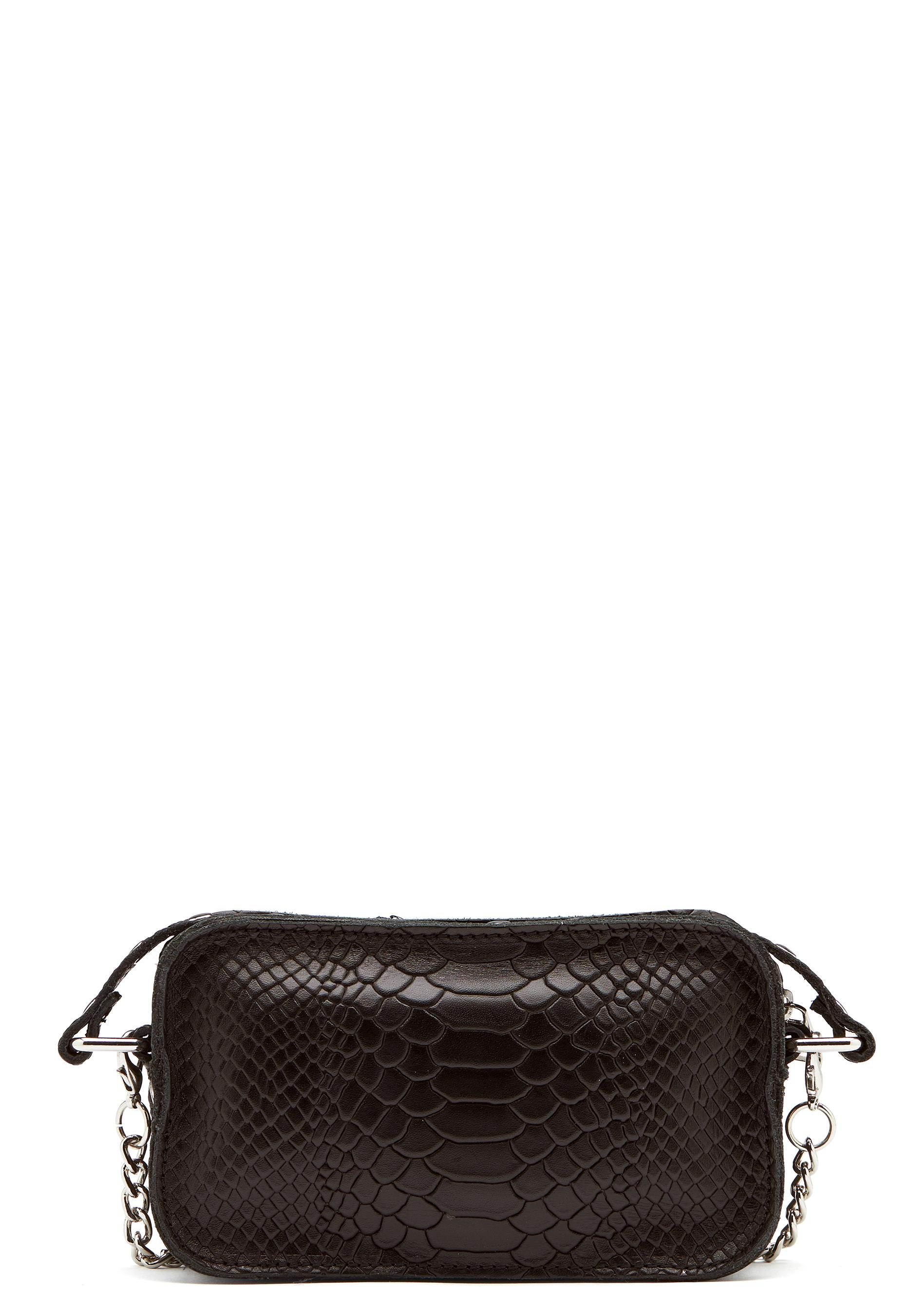 Nunoo Helena Python Bag Black Bubbleroom