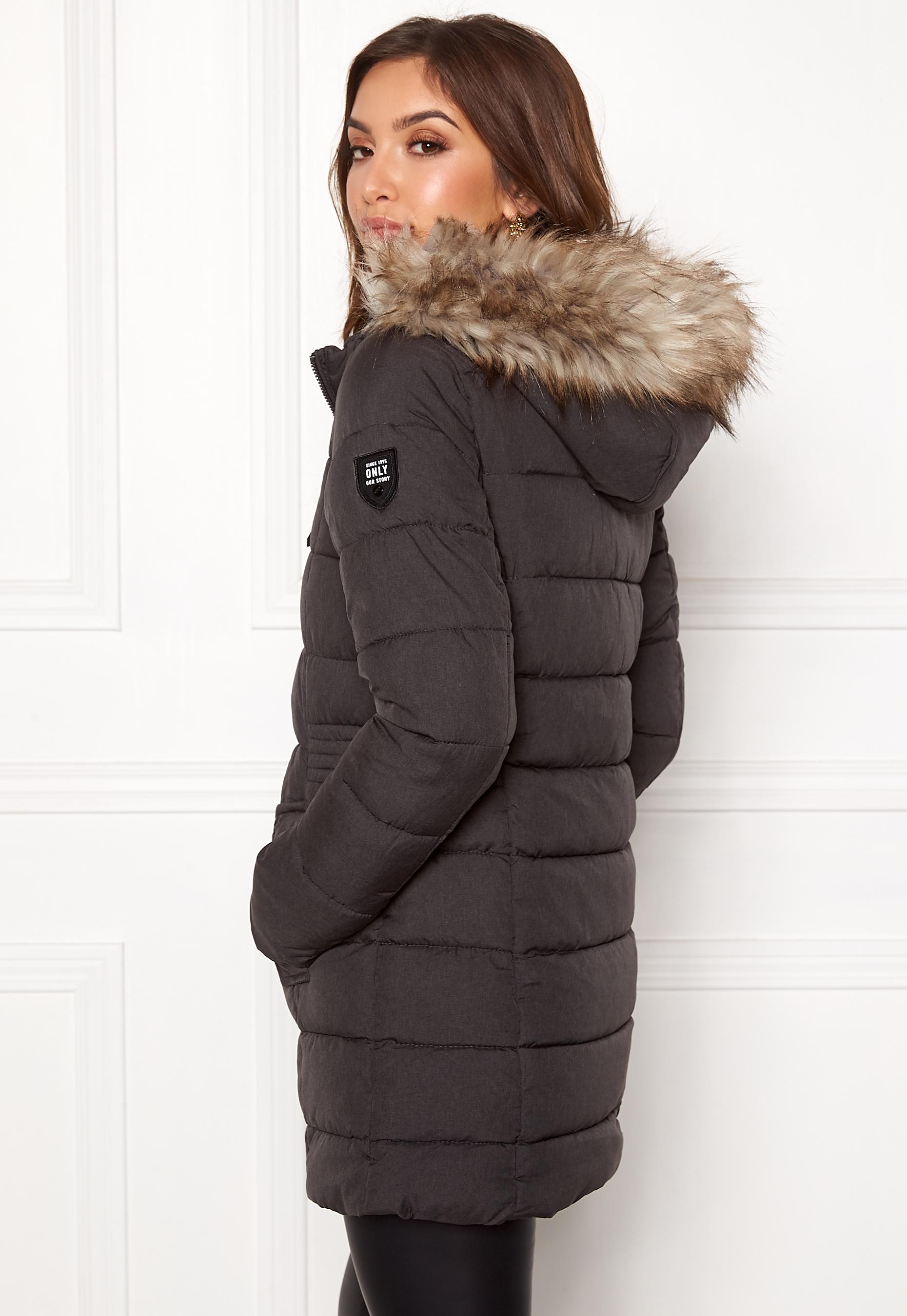 61bafb5d ONLY North Nylon Coat Black - Bubbleroom