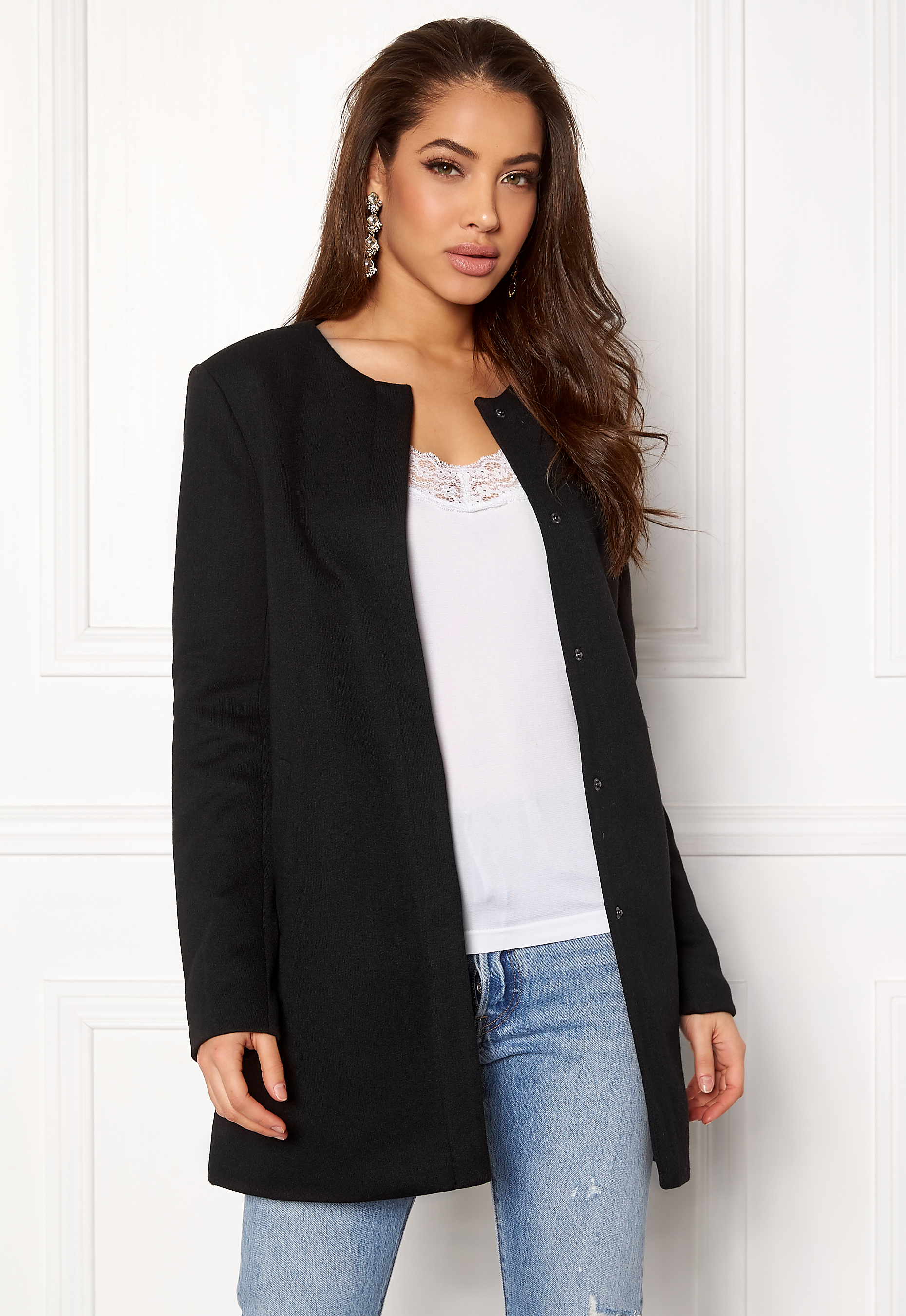 fbb934103 ONLY Sidney Light Coat Black - Bubbleroom