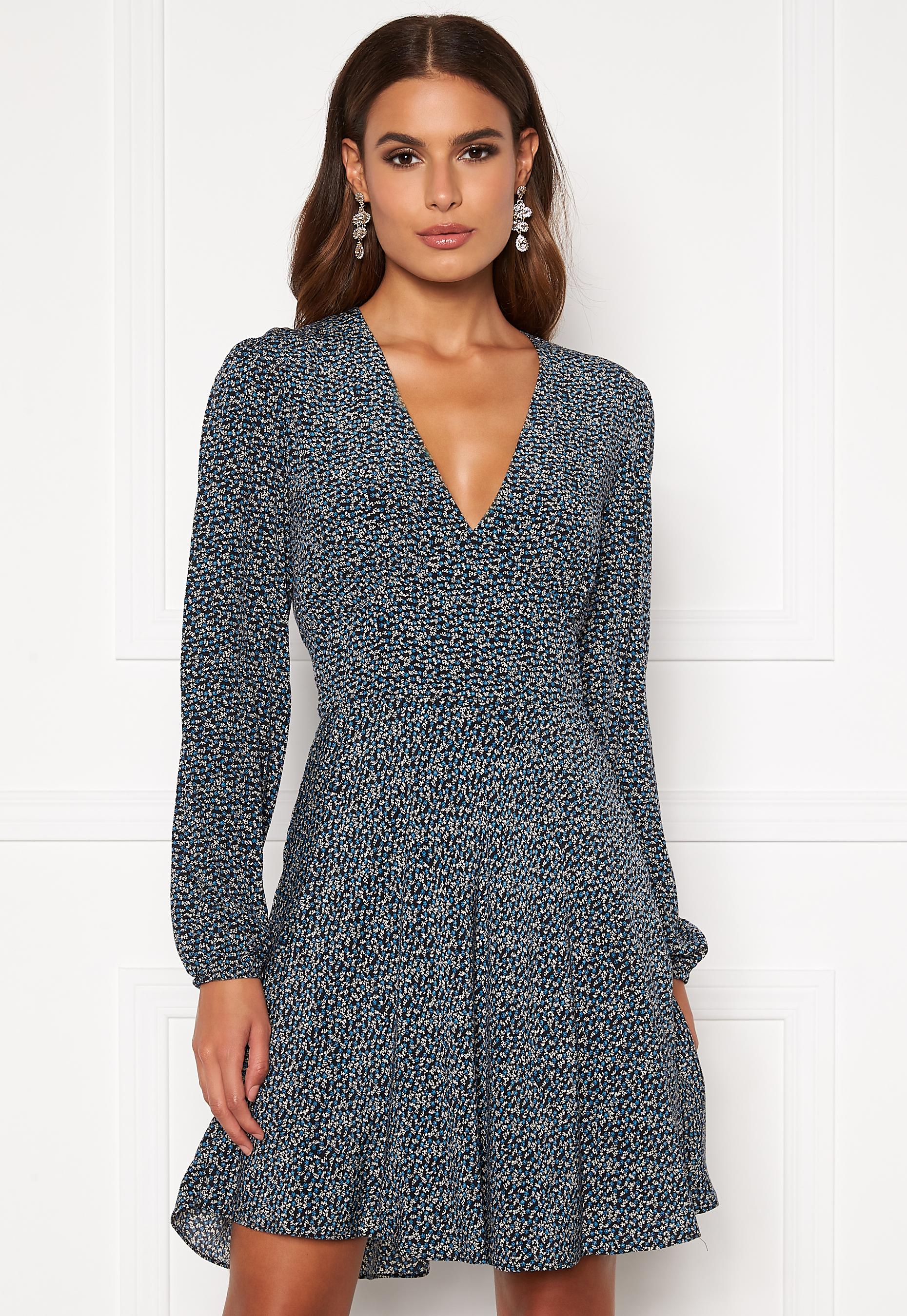 Samsøe & Samsøe kjole Cindy short dress LS, Black