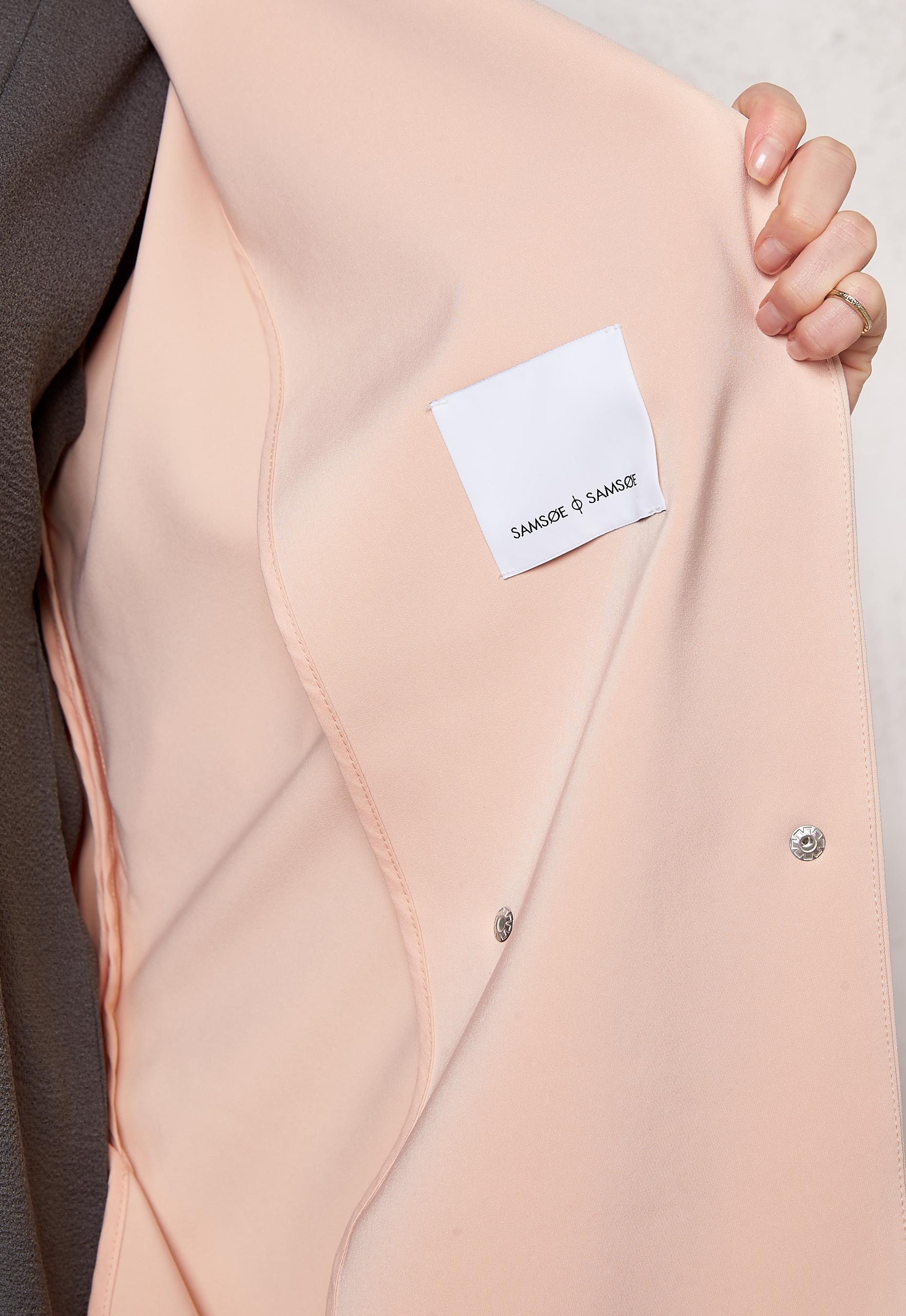 722d31ab Samsøe & Samsøe Ria Long Jacket Cameo Rose - Bubbleroom