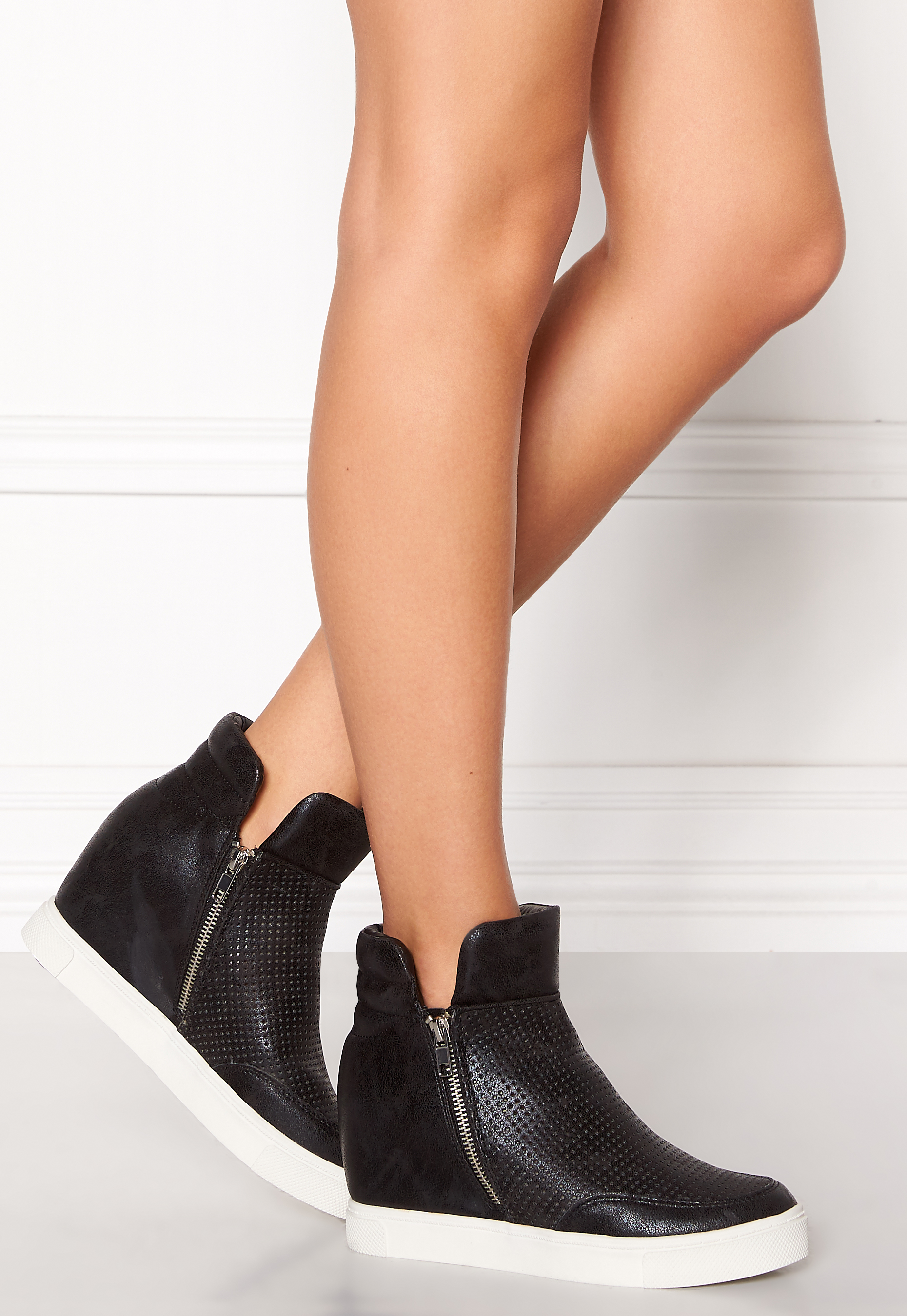 Steve Madden Wedge Sneaker Black Bubbleroom