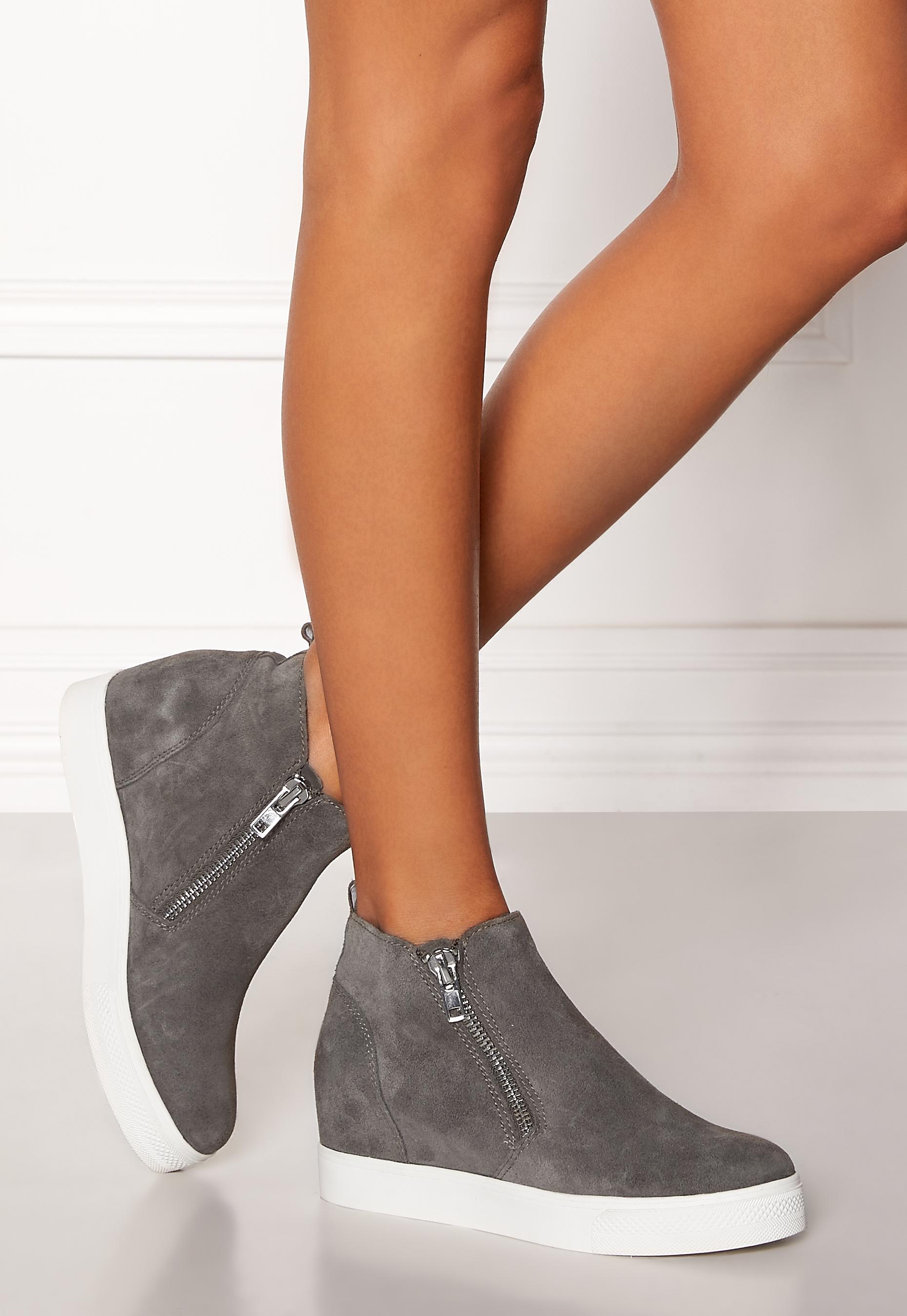 Grey Grey Wedgie Sneaker Suede Bubbleroom Bubbleroom Shoes Madden Steve 8Iqf77