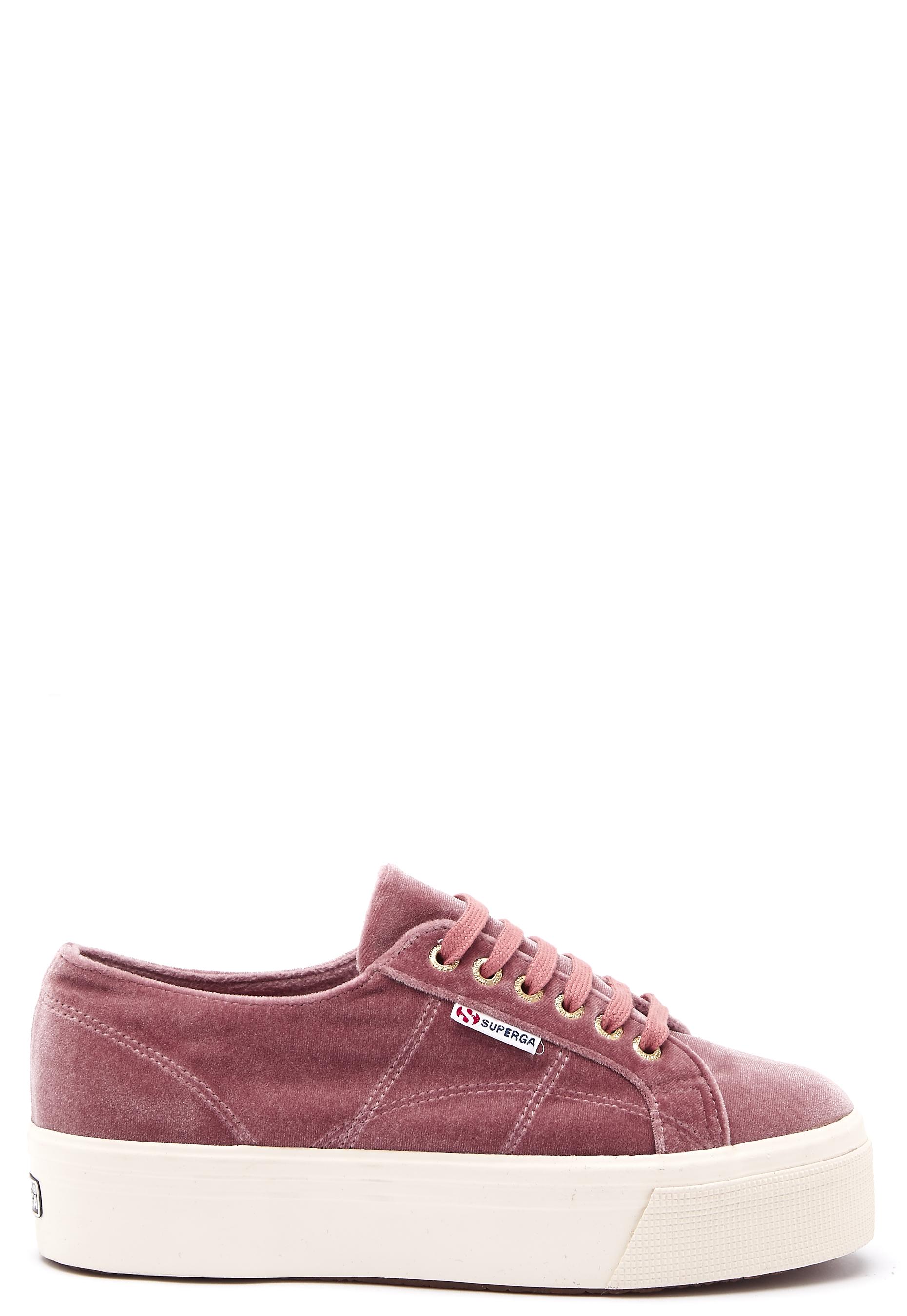 81e84523 Superga Velvet Sneakers Pink Dusty Rose - Bubbleroom