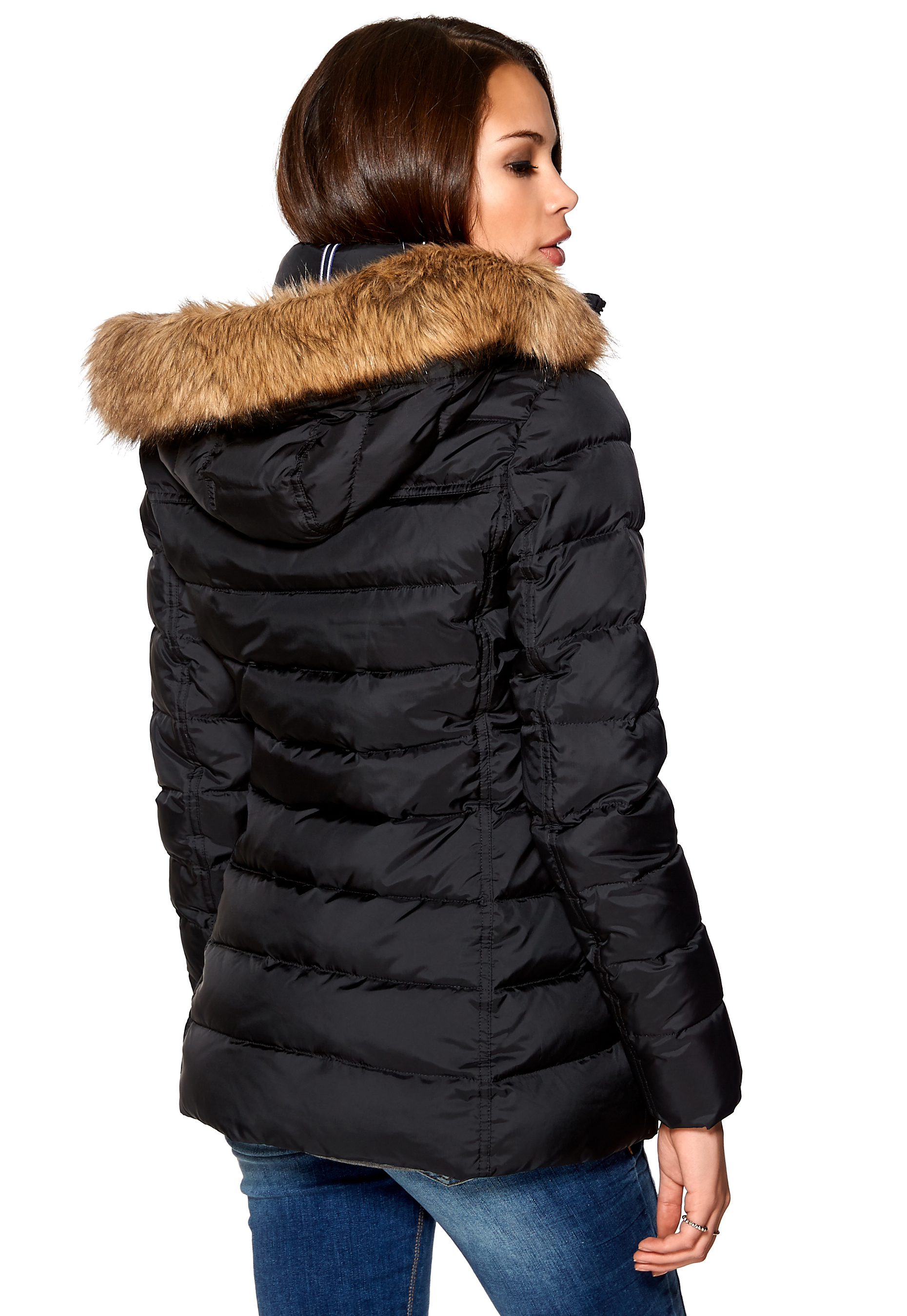7987a652 TOMMY HILFIGER Tyra Down Jacket Masters Black - Bubbleroom
