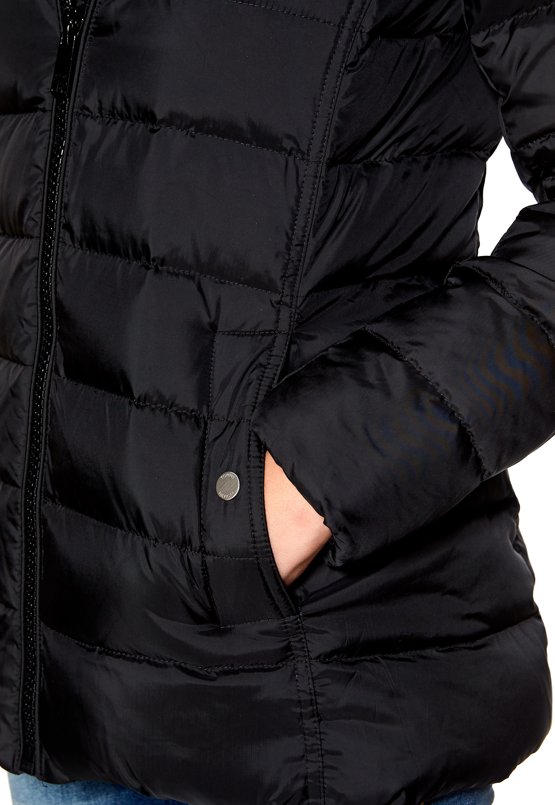 be0c2595 TOMMY HILFIGER Tyra Down Jacket Masters Black - Bubbleroom