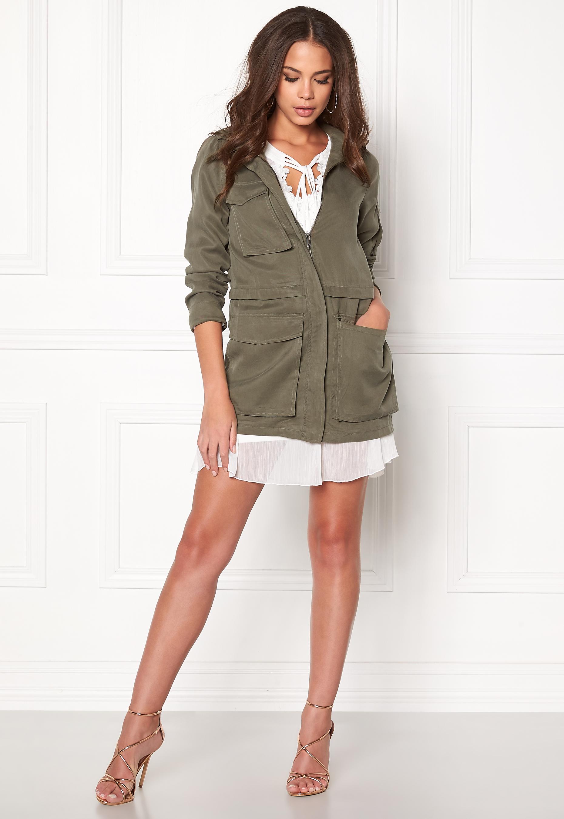 Twist & Tango Corinne Cargo Jacket Khaki Green Bubbleroom