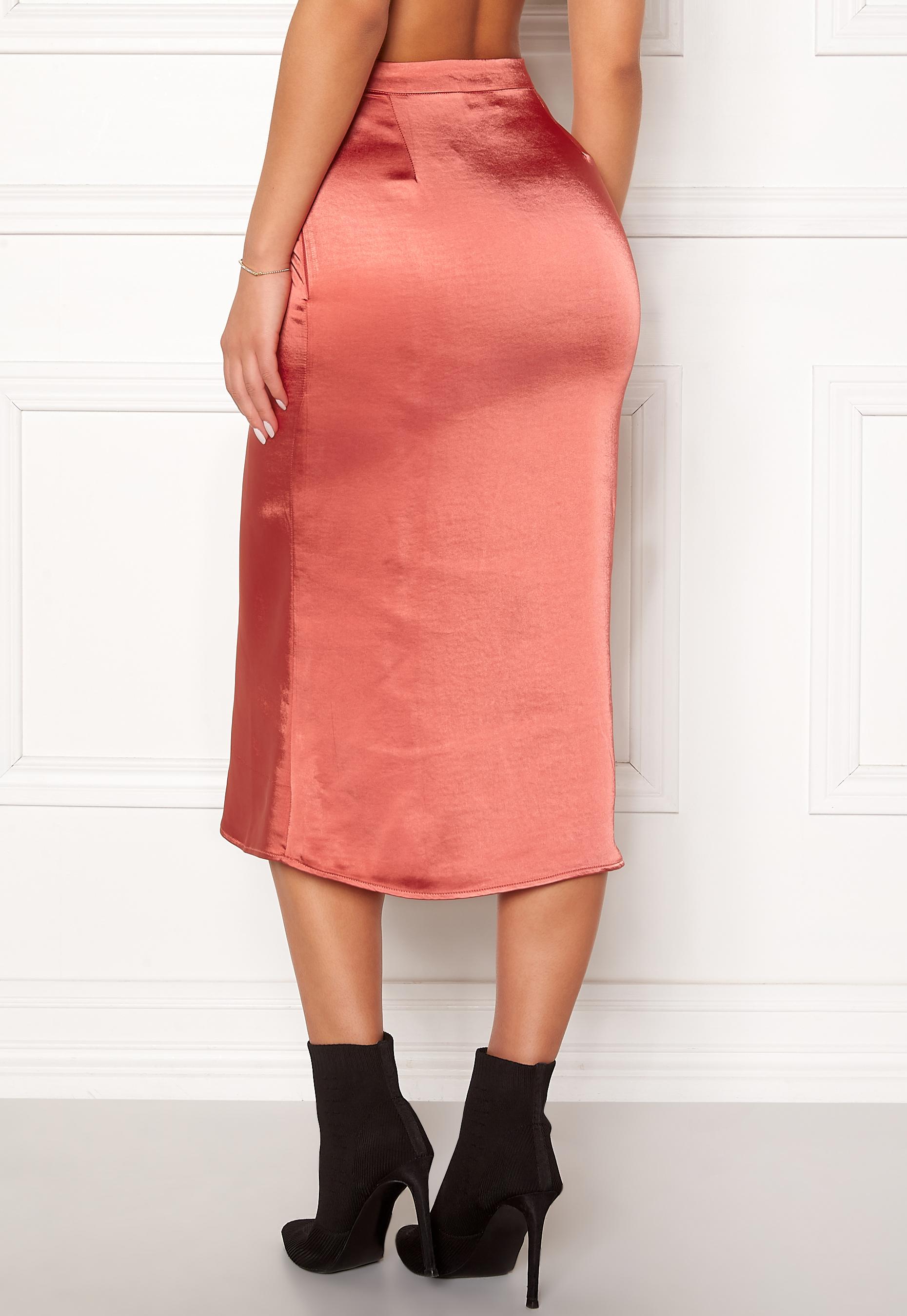 3ebde91d VILA Julie Skirt Dusty Cedar - Bubbleroom