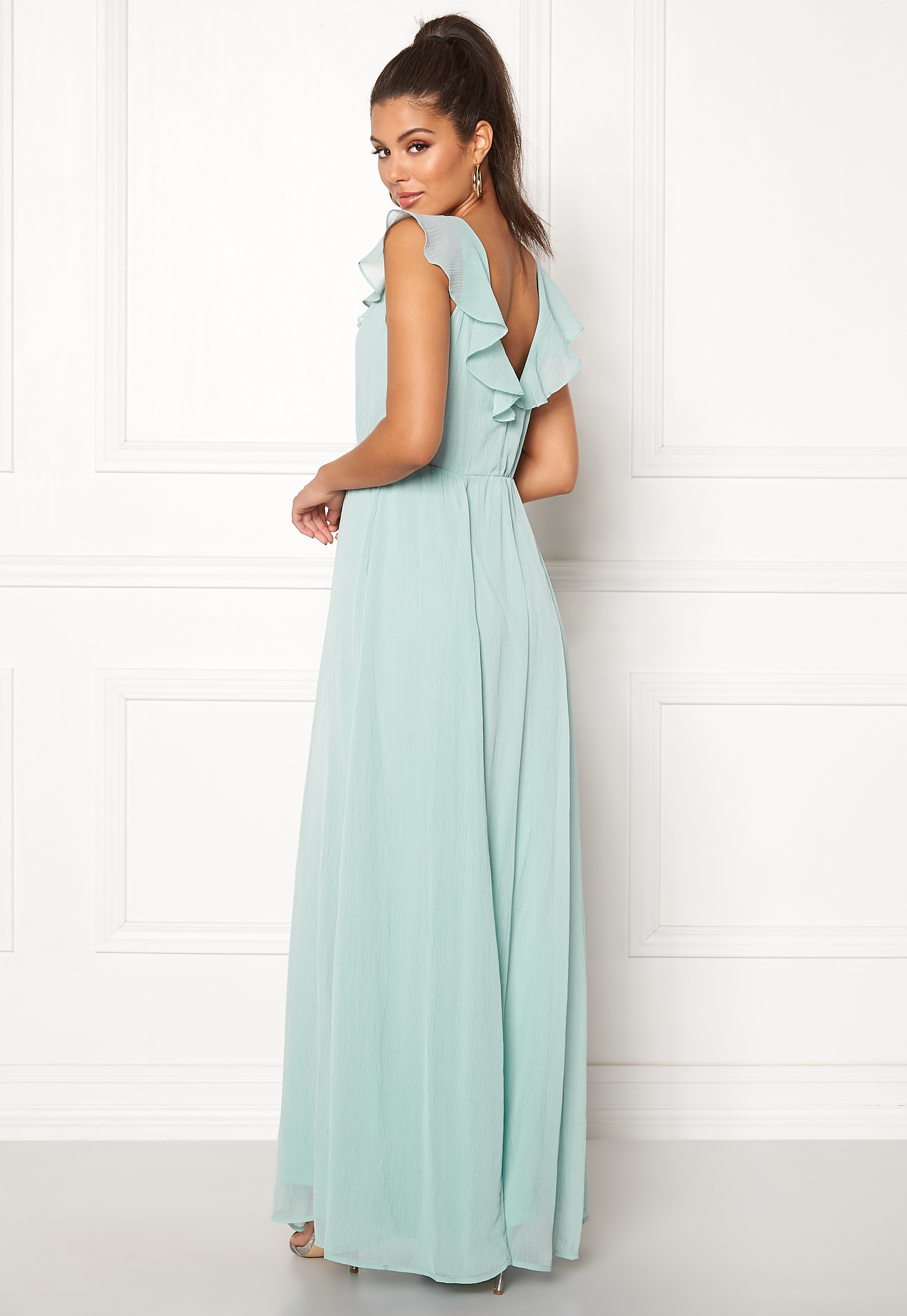 36e05eb963c0 VILA Rannsil S L Maxi Dress Blue Haze - Bubbleroom