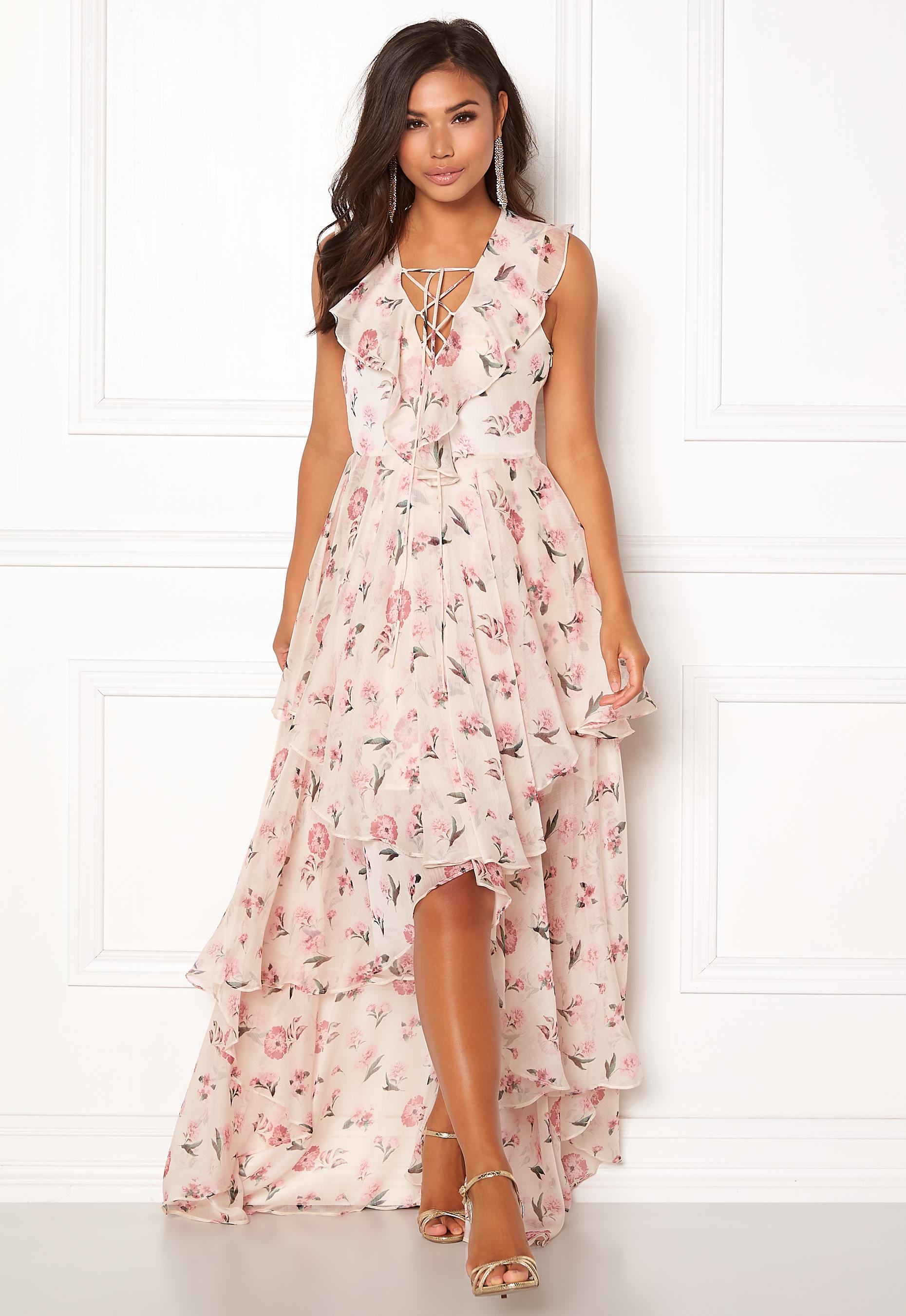 440d884c119 Y.A.S Most S/L Maxi Dress Star White - Bubbleroom