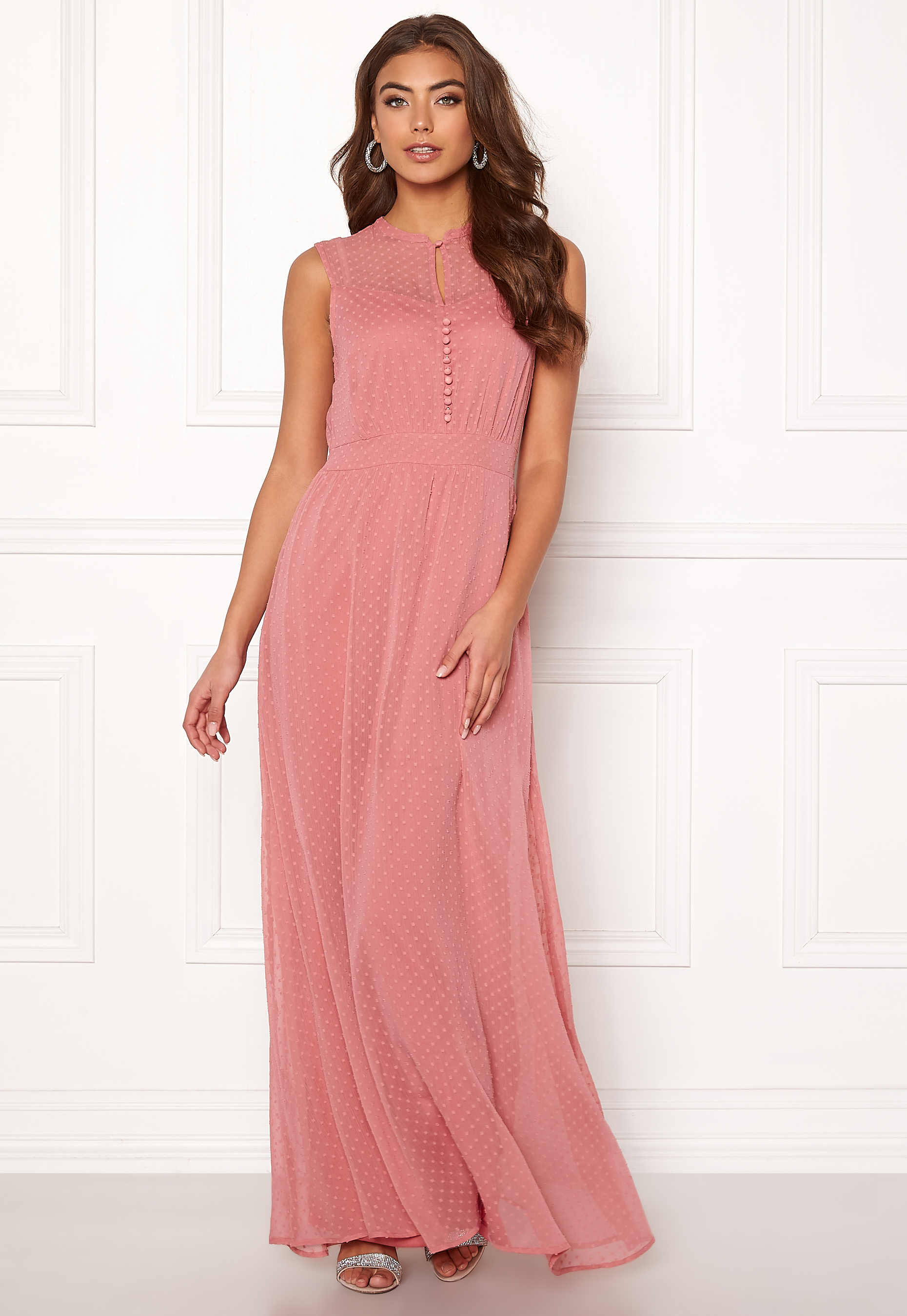 58102bc7 Y.A.S Sienna S/L Dress Dusty Rose - Bubbleroom